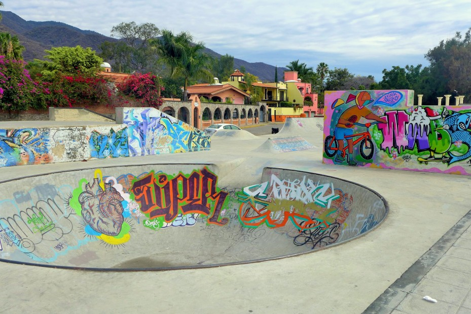 skate park along the lake