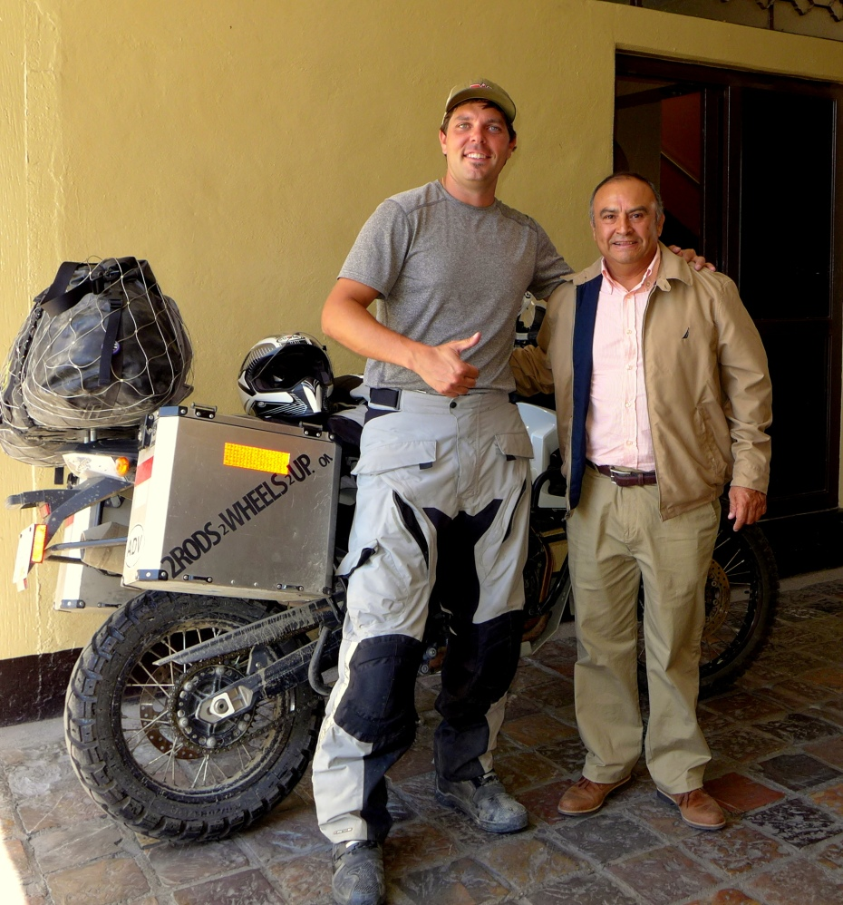 motorcycle enthusiast Sergio owns Hotel Paris in Oaxaca