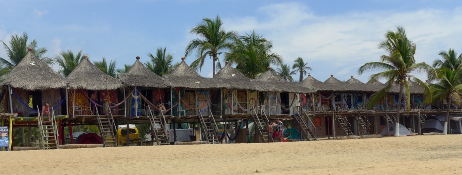 "Many offerings of ""hippie cabanas"" and hammock camping in Zipolete"