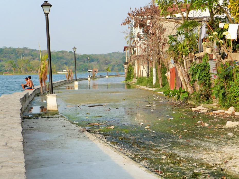 The north side of Flores showed signs of recent flooding along the boardwalk