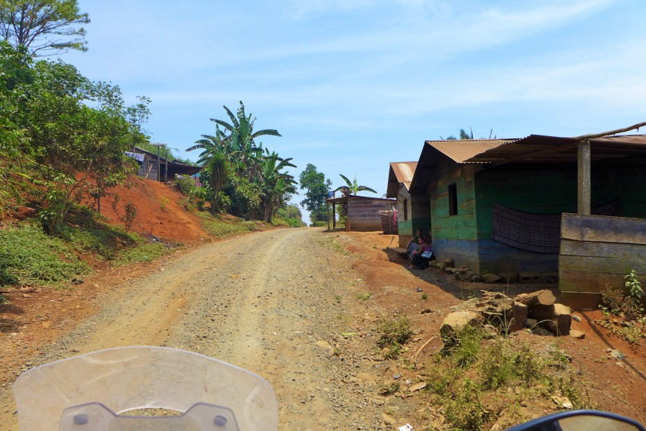 many small villages along the way
