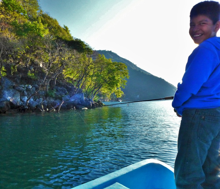 Jose J.r always had a smile on his face and enjoyed trying out our fishing rod
