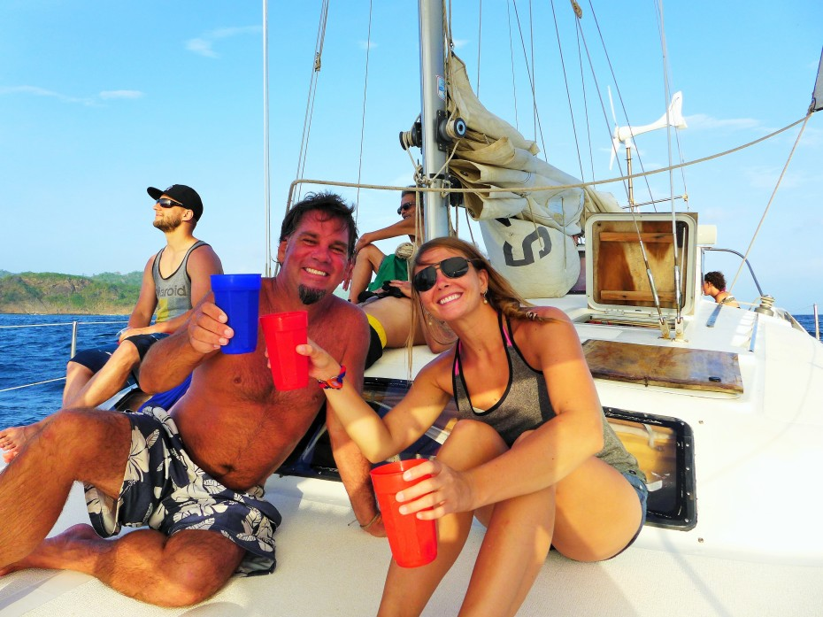 New amigo Johnny and first mate Jenn