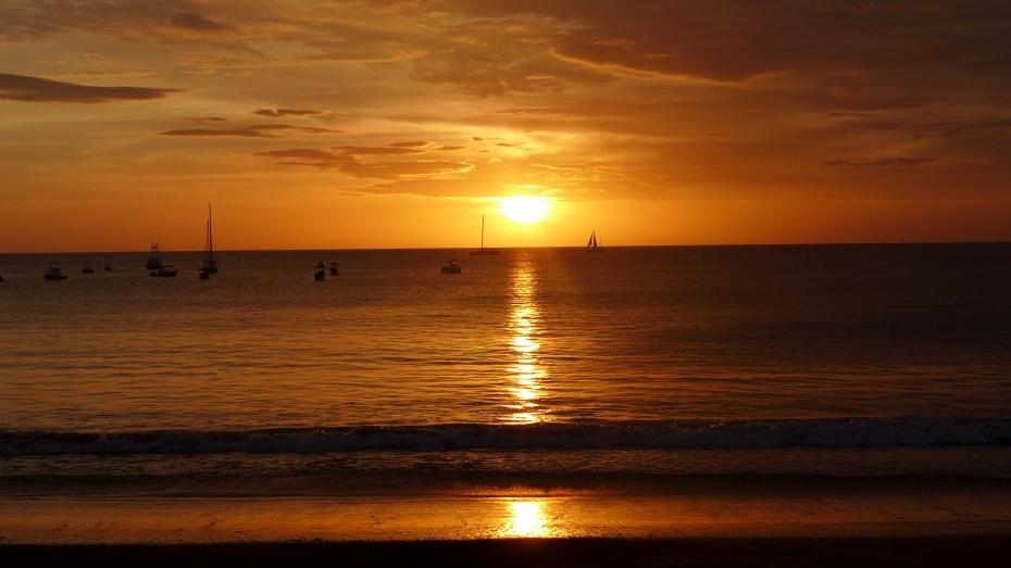 magic happens at dusk over playa Coco