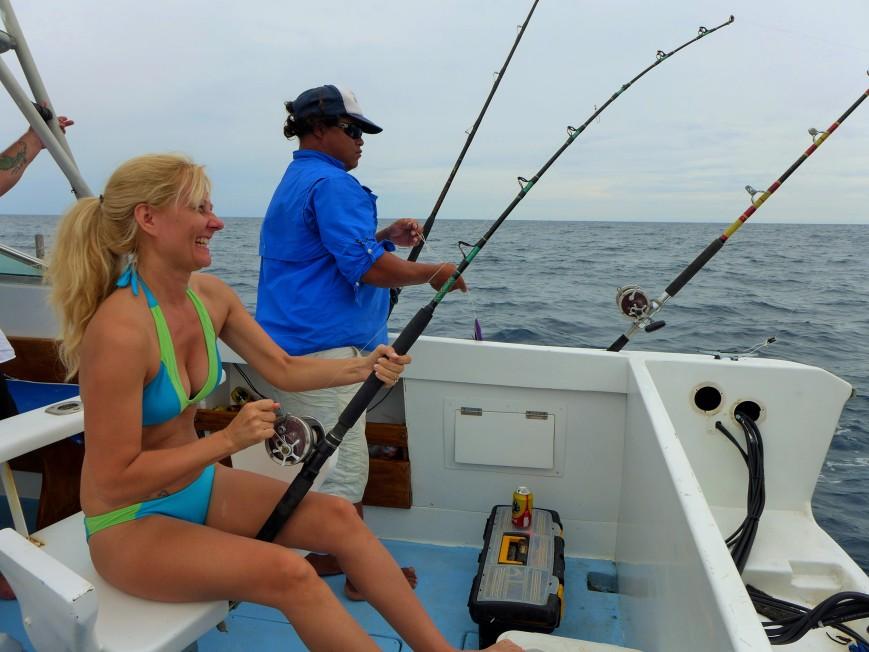 Lisa fish on!