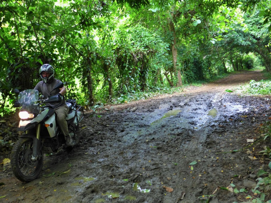rode in part of the way until the trail got mudded out
