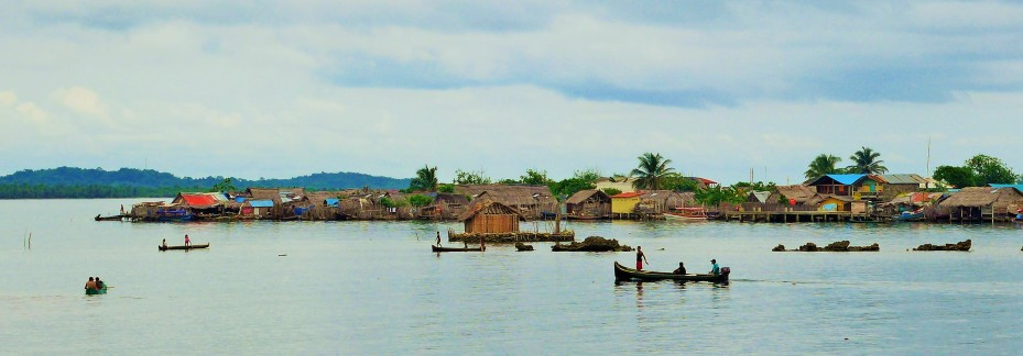 Kuna populated island in the San Blas