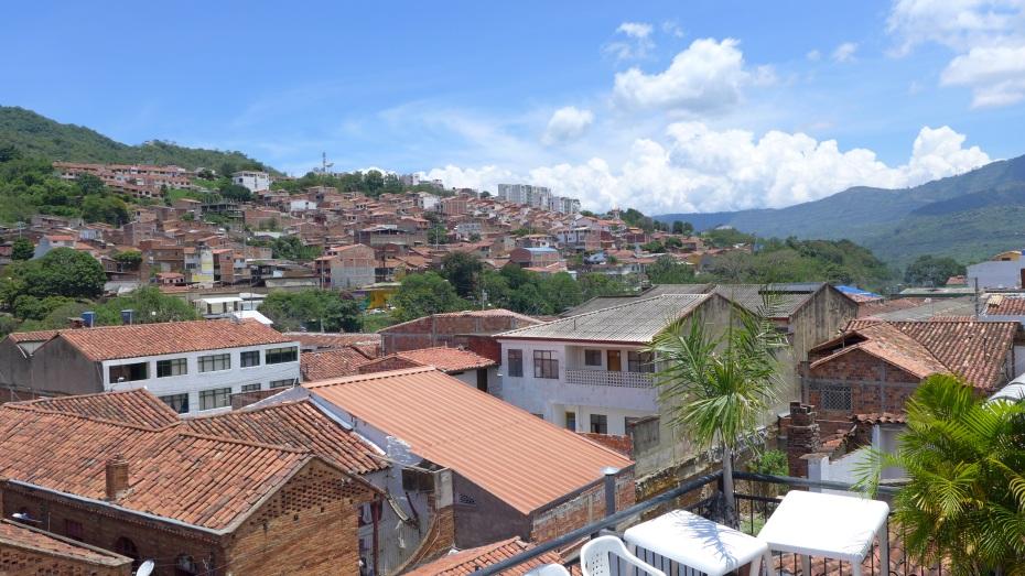 mountain side casas of San Gil