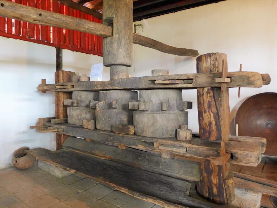 horse/oax turned machine that would grind sugarcane