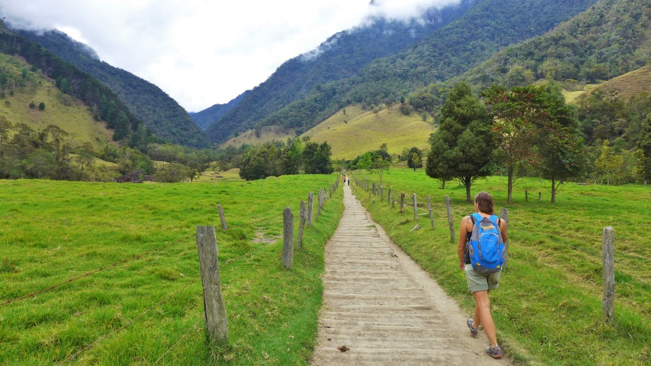 trekking Cocora valley