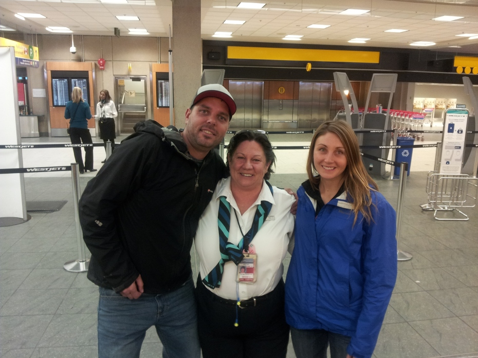 our westjet angel...Thx Deb!!