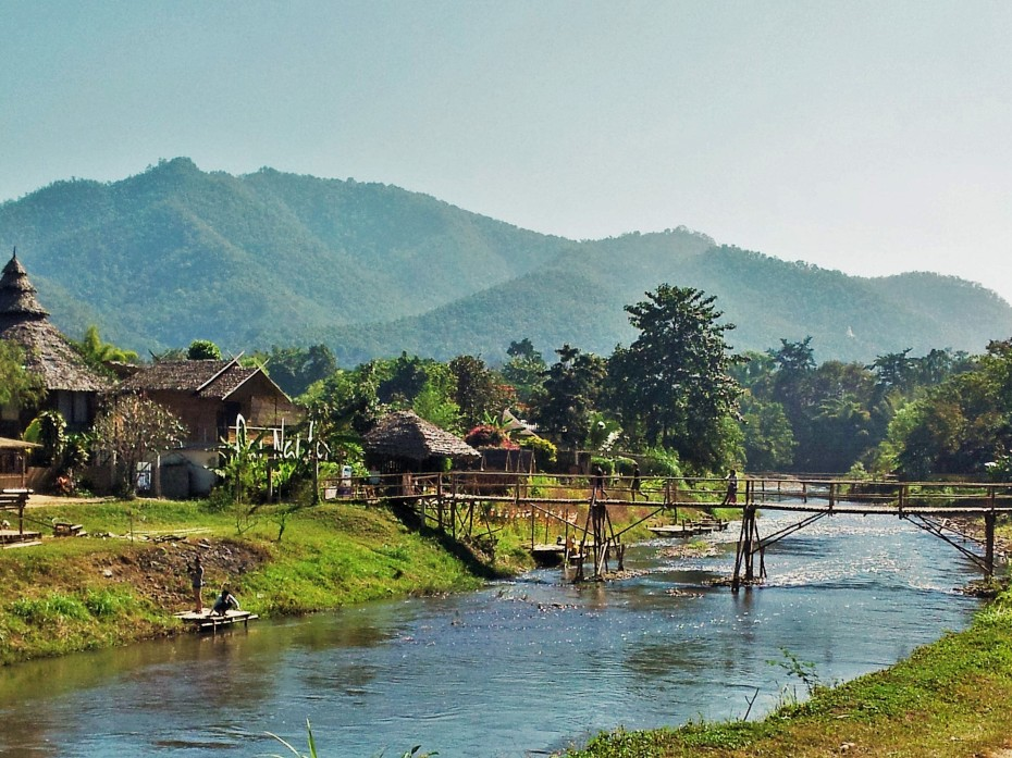 the pretty town of Pai, if only it wasn't so full of tourists.