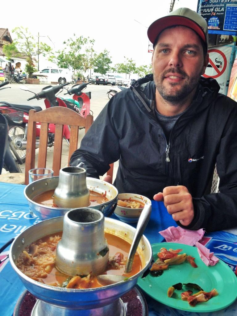some tasty fresh Tom Yam shrimp soup