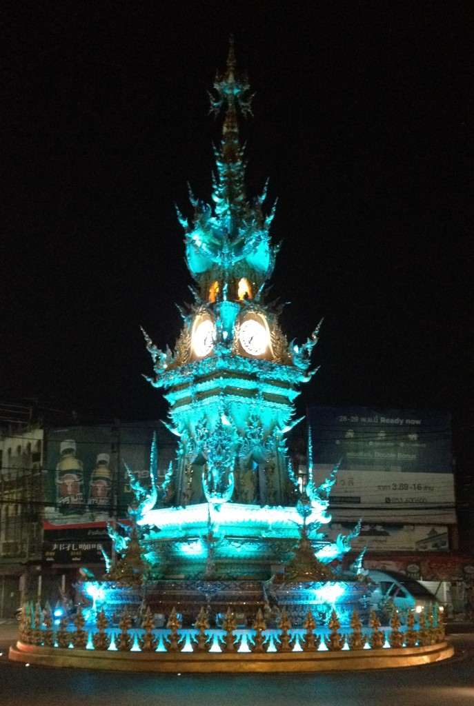 Chiang Rai's famous clock tower