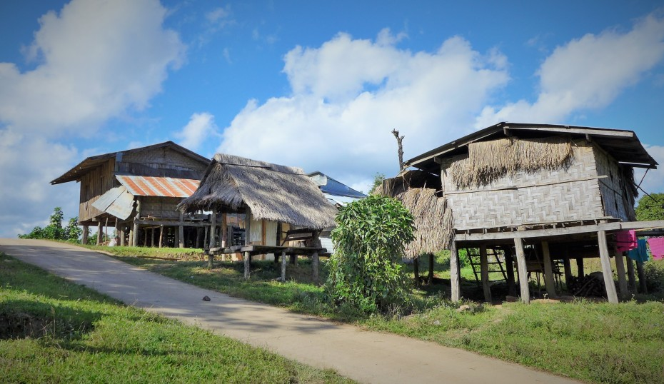 wooden homes throughout the countryside
