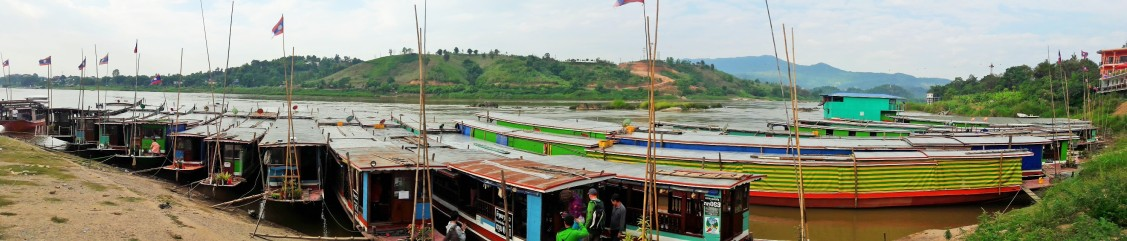 Laos long boats ready for duty
