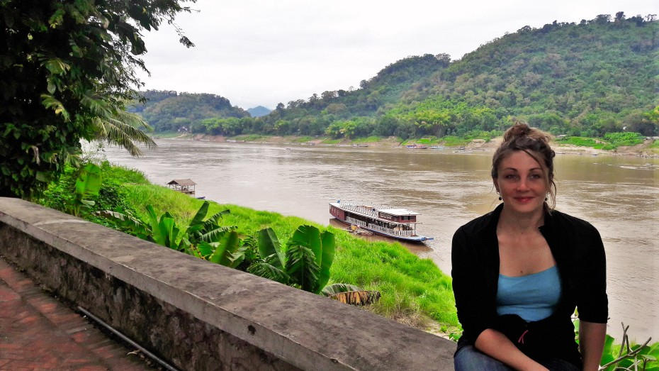 the Mekong river fingers its way in and out of Luang Prabang