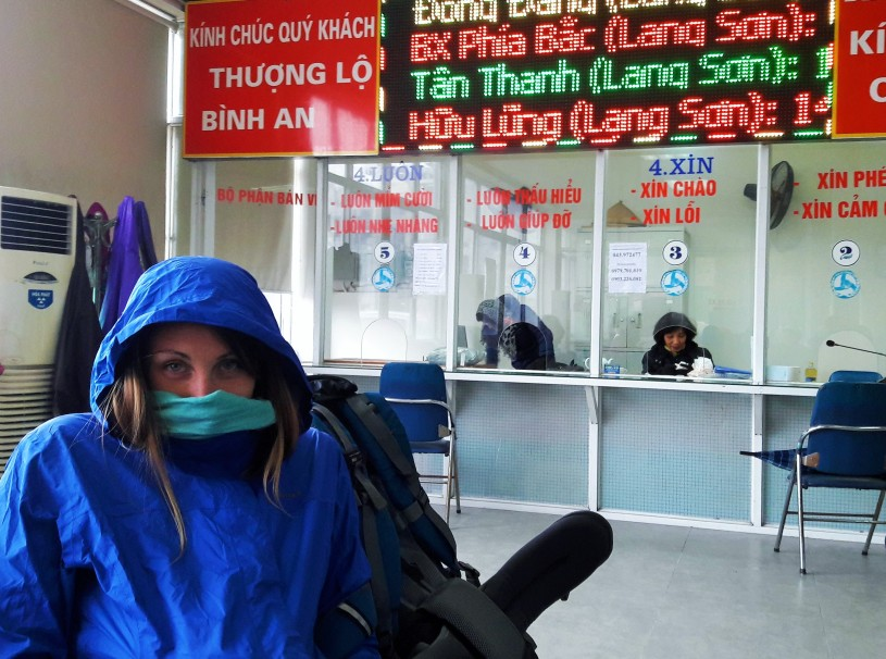 Hanoi... even cold in the bus station Jenn said.