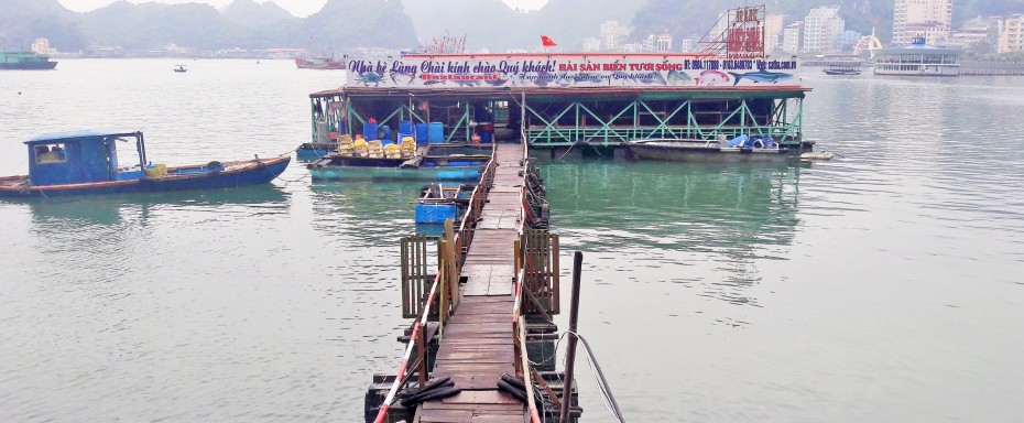 Many floating restaurants around Cat Ba. Most were closed when we were there.