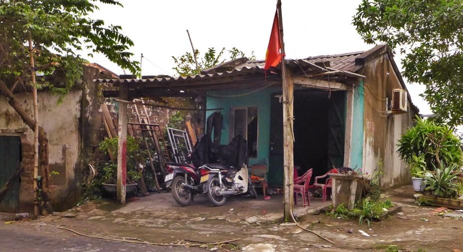 Homes around the island
